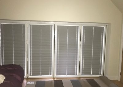 Pleated Blackout Blinds For Bi-Fold Doors, No Drilling.
